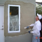 stucco repair around newly installed window